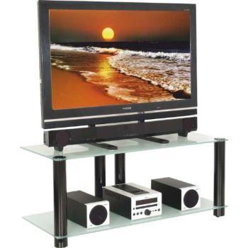 2025 mobile porta TV in vetro e metallo bianco o nero