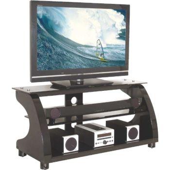 766 mobiletto porta TV in legno e vetro