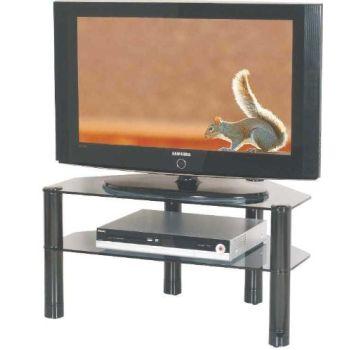 2004 porta TV in metallo con piani in vetro fumè