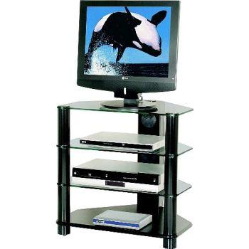 Porta tv in vetro curvato reflex mobile cristallo - Porta televisore in vetro ...