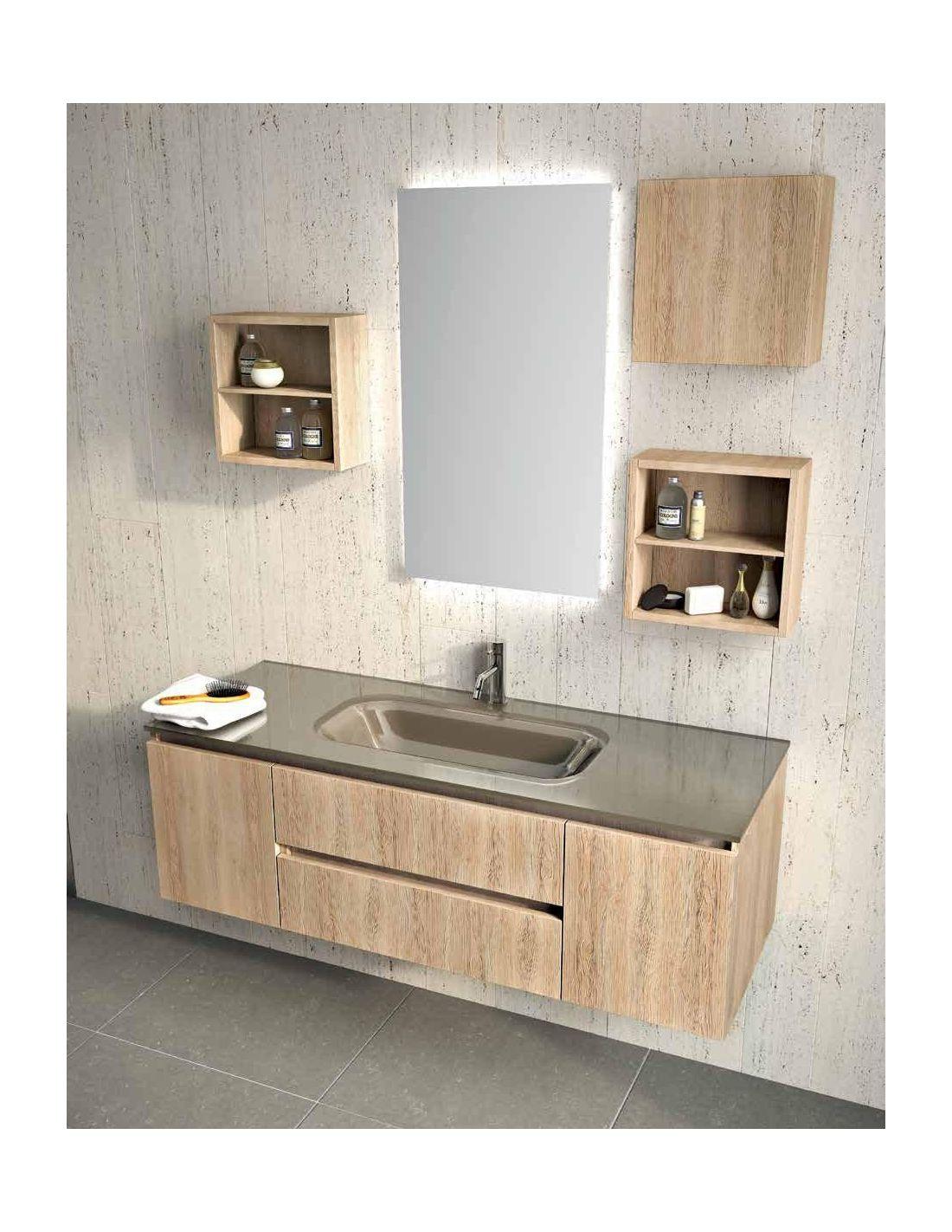 1 composizione arredo bagno in legno rovere - Composizione Arredo Bagno