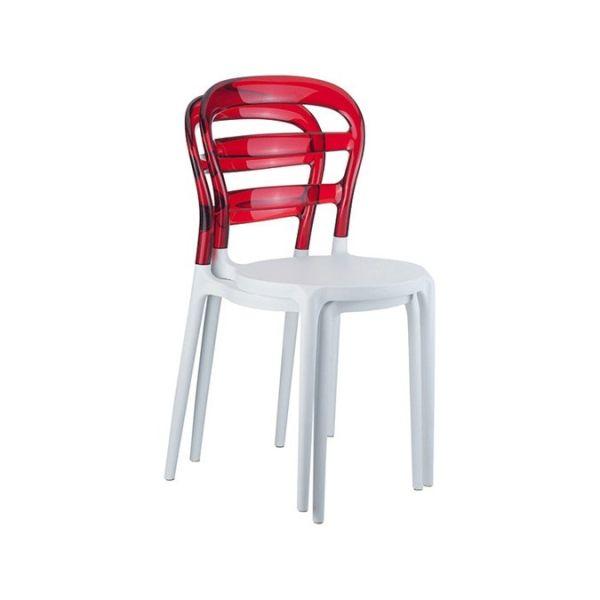 Coppia sedie da giardino impilabili Redhead