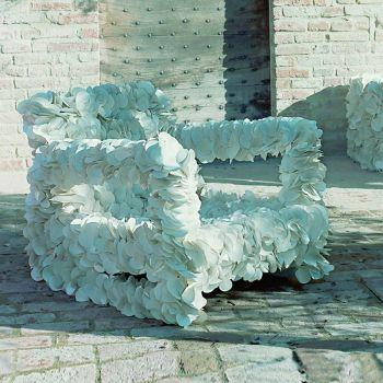 Poltrona da esterno in materiale riciclato Dondol PVC