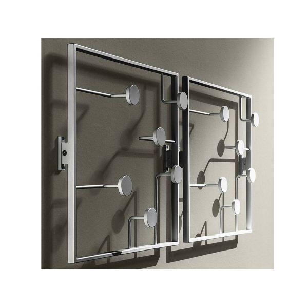 Attaccapanni da parete in metallo bonny appendiabiti da - Appendiabiti design a muro ...