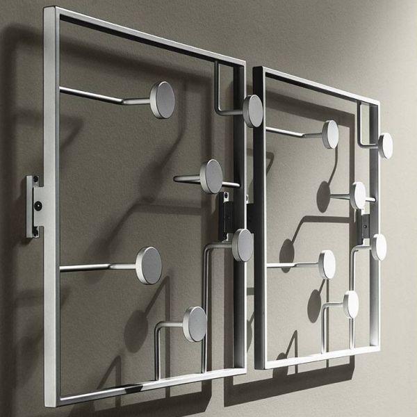 Attaccapanni da parete Bonny in metallo laccato 50 x 50 cm
