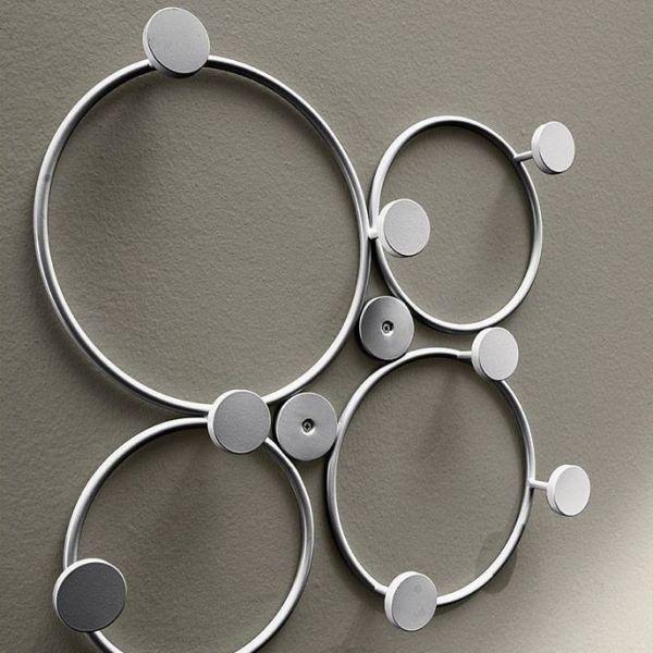 Appendiabiti da parete design in metallo Circles