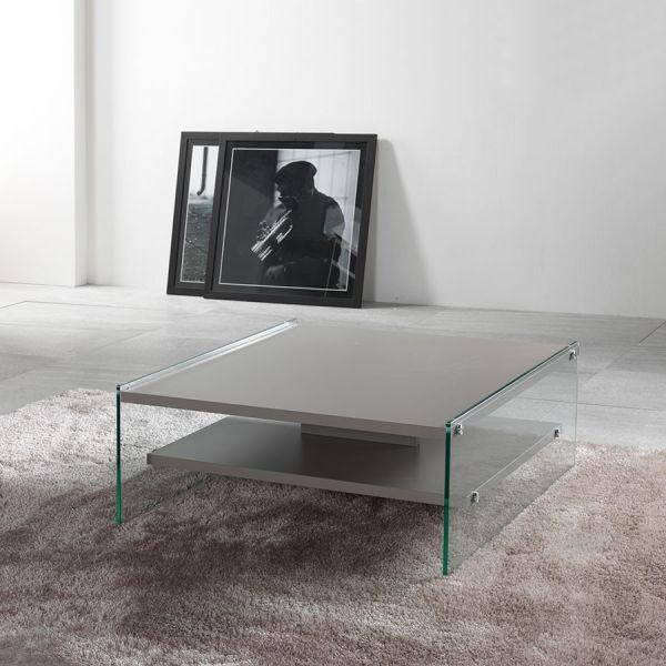 Tavolino da salotto quadrato o rettangolare design moderno Maxym