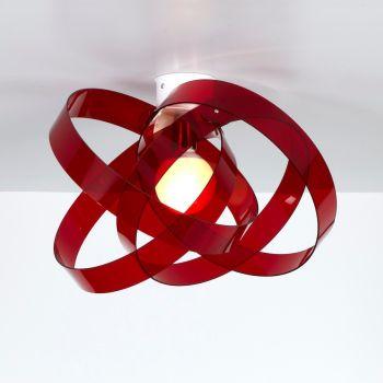 Plafoniera in plexiglass Nuvola in plexiglass Satinato o Rosso