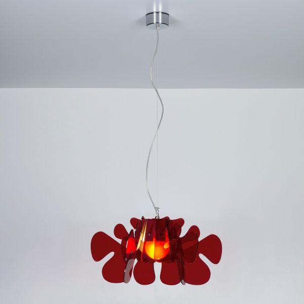Aralia lampadario a sospensione in plexiglass