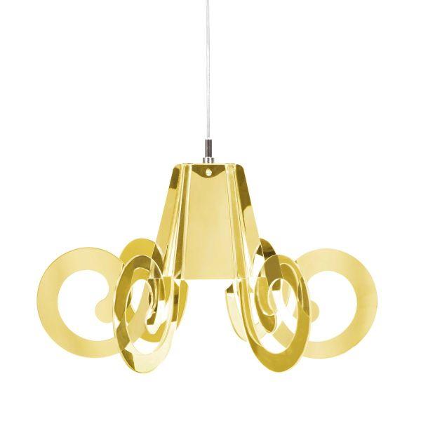 Ricciolino Gold lampadario a sospensione design