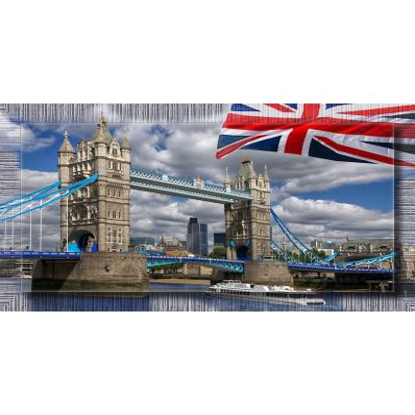 Quadro citta' Londra Flag
