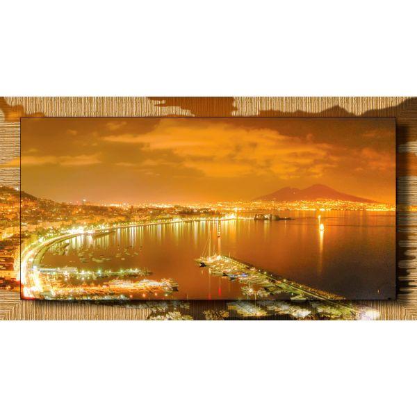 Quadro Napoli di notte con cornice