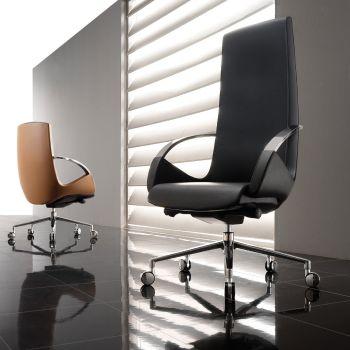 Poltrona direzionale More schienale alto design moderno