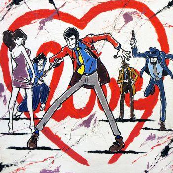 Lupin Cuore quadro moderno
