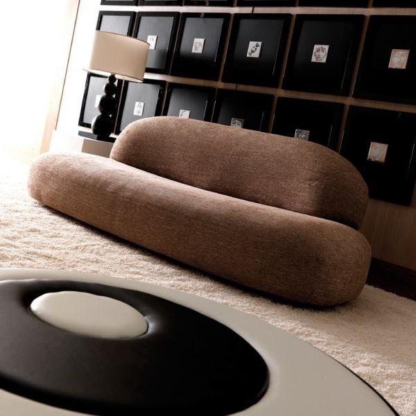 Divano design scoop a 3 posti in tessuto per zona giorno moderno ...
