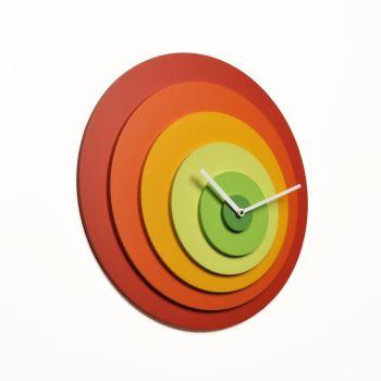 Orologio design da parete Target in legno design moderno