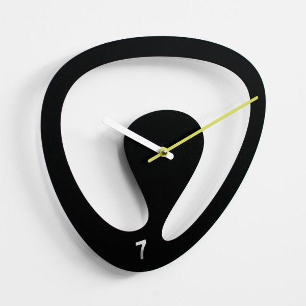 Particolare Orologio Da Parete Design Moderno.Orologio Da Parete Design In Metallo Nero Verde Grigio Seven