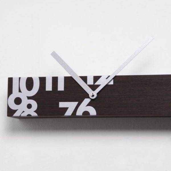 Orologio parete in legno orizzontale o verticale 150 cm Iltempostringe