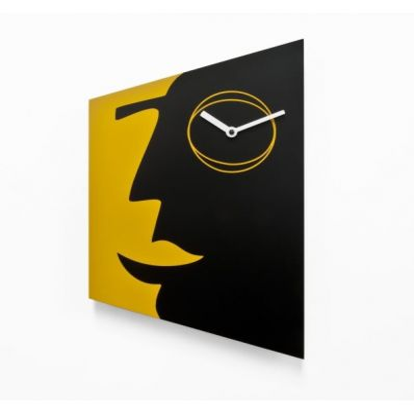 Orologio a muro quadrato design moderno Face