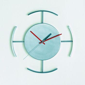 Station Mir orologio moderno in acciaio con movimento al quarzo 30 x 30 cm