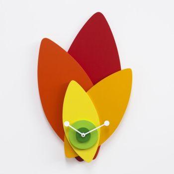 Orologio da parete Petali a forma di fiore design moderno