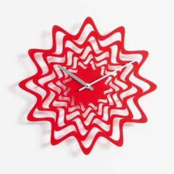 Orologio da parete Flux in metallo Nero Bianco Rosso diametro 36 cm