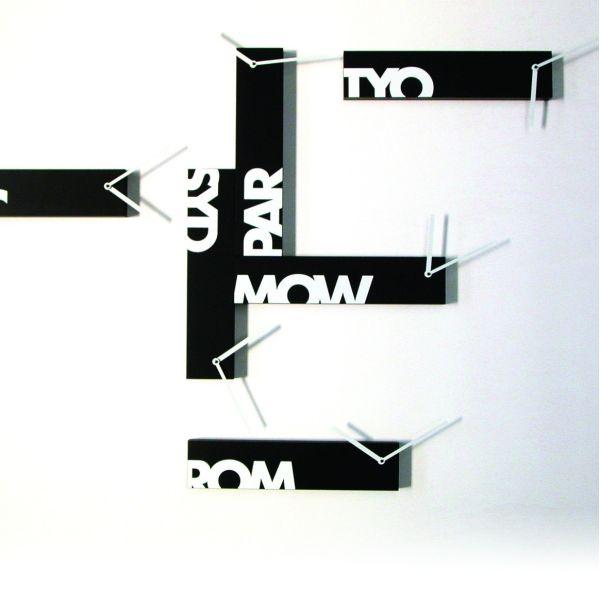 Orologio da muro design moderno in 6 pezzi componibili Souvenir 6
