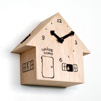 Cuckoo Home orologio cucu in legno betulla a forma di casetta