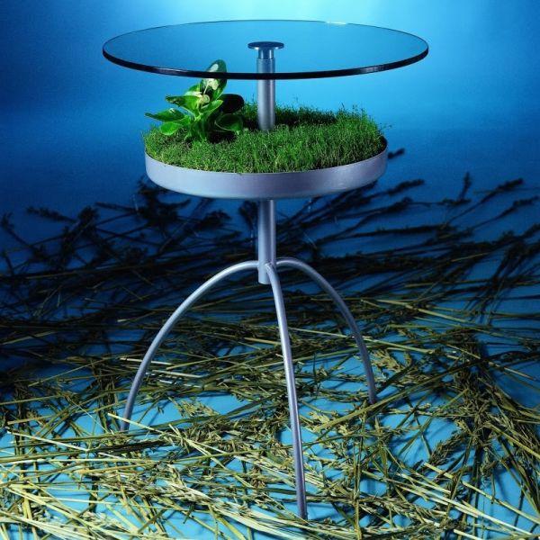 Tavolino con fioriera per interni design moderno Pat Green