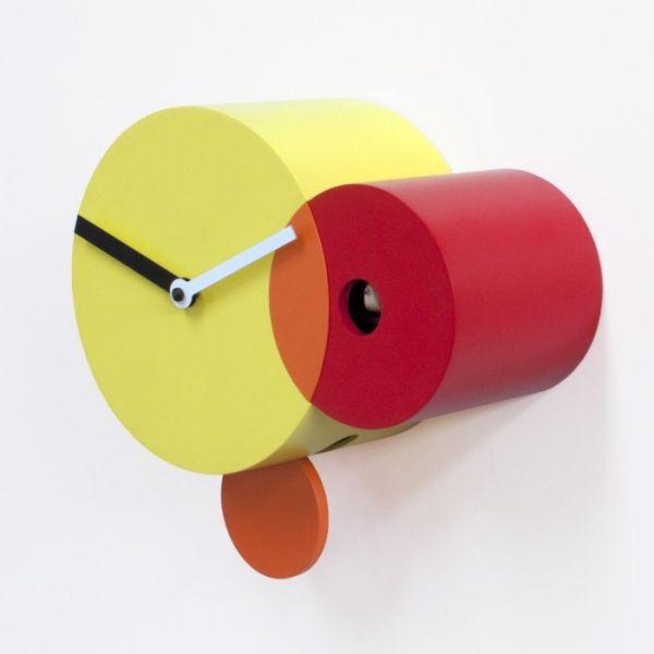 Orologio a cucu' da parete design con pendolo Kandinsky
