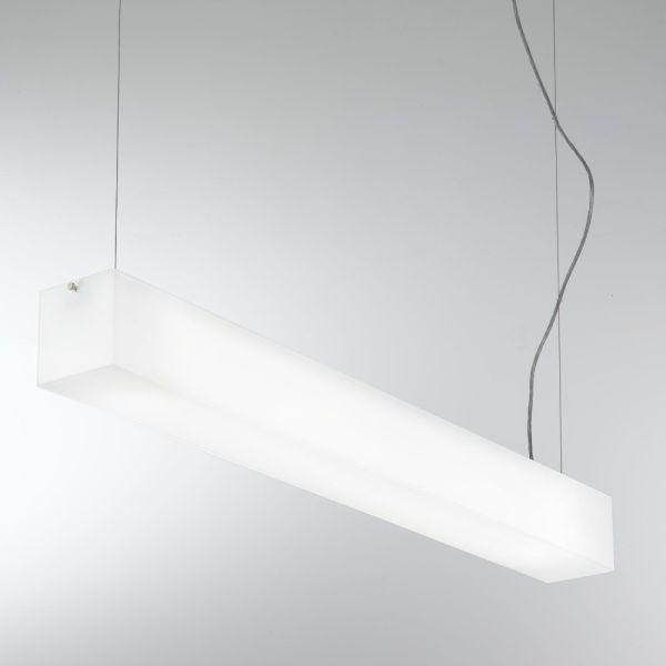 Lampadario a sospensione in alluminio e vetro bianco Compact A320