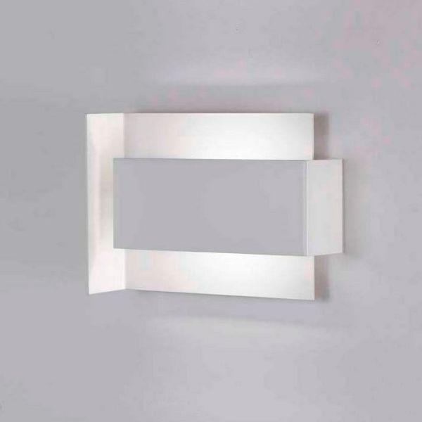 Applique moderna a LED in acciaio bianco Tao D700
