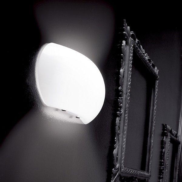 Applique da parete a LED design in vetro soffiato Bulle D300