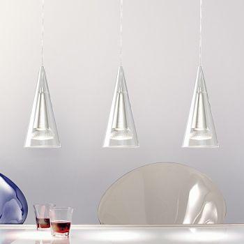 Lampadario Giava A230 a sospensione in cristallo trasparente