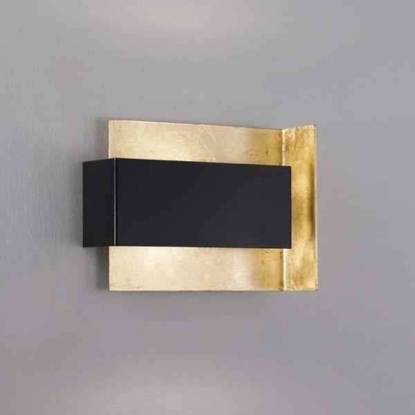 Tao d700 lampada da parete applique design in metallo finitura foglia oro ebay - Applique da parete ikea ...