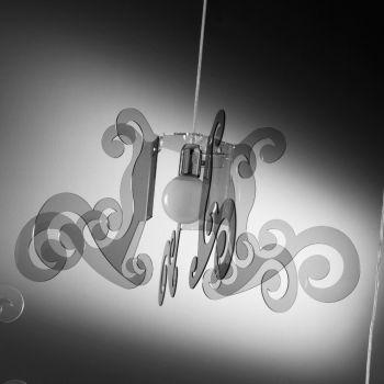 Venus lampadario a sospensione in metacrilato diametro 70 cm