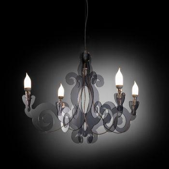 Barocco lampadario in plexiglass