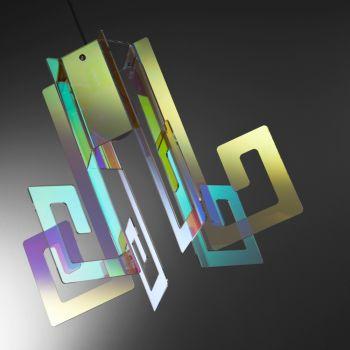 Korona lampadario moderno a sospensione in plexiglass