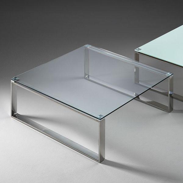 Tavolino Per Salotto Vetro.Tavolino Salotto Moderno Stain In Vetro 80 X 80 Cm