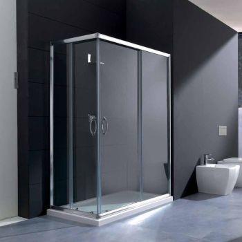 Box doccia S70 a due lati in vetro trasparente o satinato