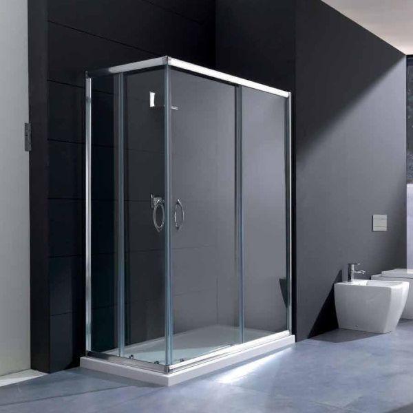 Box doccia rettangolare in vetro
