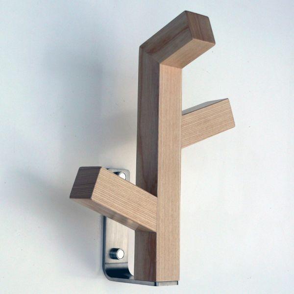 Attaccapanni a muro in legno naturale Organica W3 | Appendiabiti ...