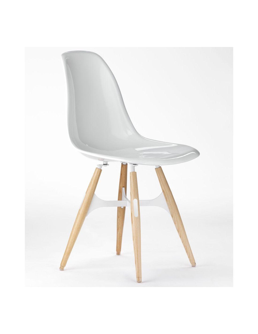 zigzag sedia moderna da cucina in policarbonato gambe in frassino. Black Bedroom Furniture Sets. Home Design Ideas