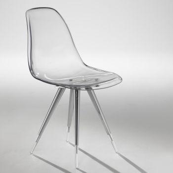 Angel sedia moderna da cucina in policarbonato trasparente