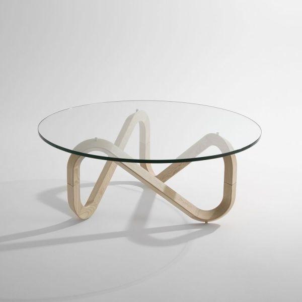 Libra tavolino in cristallo