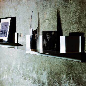 Linea mensola da parete in acciaio bianco nero grigio ruggine 100 cm