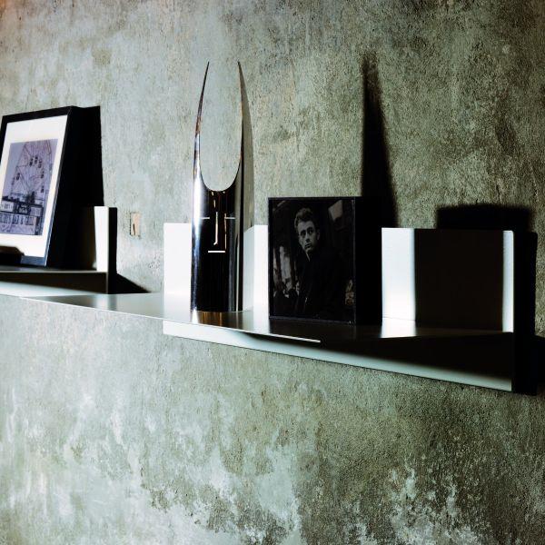 Mensola da parete moderna in acciaio verniciato 100 cm Linea
