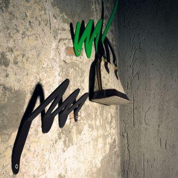 Attaccapanni da parete Matisse design moderno in acciaio