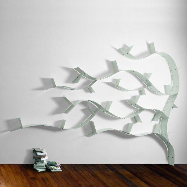Libreria da parete ad albero in acciaio design moderno Wallboarding7