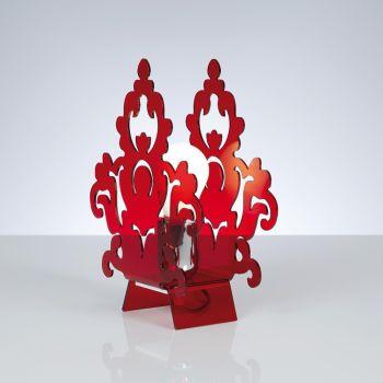 Abat jour design Amarilli in metacrilato trasparente satinato rosso